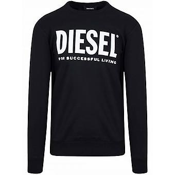 Diesel Black Printed Logo Sweatshirt
