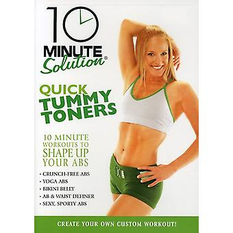 10 Minute Solution - Quick Tummy Toners [DVD] USA import