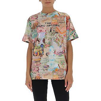 Marc Jacobs C6000084960 Women's Multicolor Cotton T-shirt