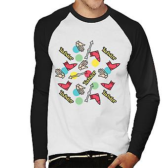 Twister Mat Circles ja keltainen logo miehet & apos; s baseball pitkähihainen t-paita