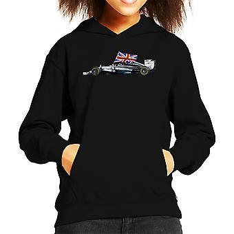 Motorsport Images Lewis Hamilton Yas Marina Circuit 2014 Kid's Hooded Sweatshirt