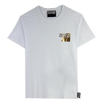 Versace Jeans Couture Chest Logo Foil Tshirt White