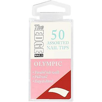 The Edge Nails Valse Nagel Tips - Olympisch (Maat 2) (50 Nagel Tips)