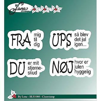 Af Lene Clear Stamp Danske Tekster 2