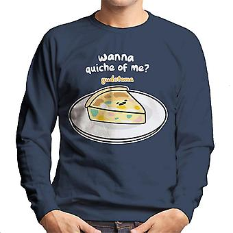 Gudetama Wanna Quiche Of Me Men's Sweatshirt