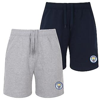 Manchester City FC Officiel Football Gift Mens Fleece Jogger Shorts