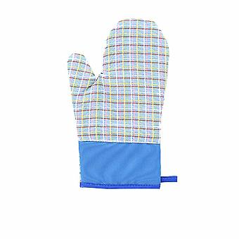 Microwave Oven Gloves Thick Cotton Blue