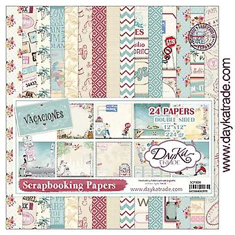 DayKa Trade Vacaciones 12x12 Inch Paper Pack