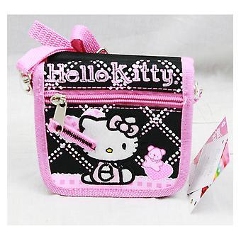 String Wallet - Hello Kitty - Black Hearts Bear Gift Licensed - 81586