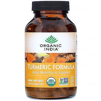 Organic India, Turmeric Formula, Joint Mobility & Support, 180 Vegetarian Caps