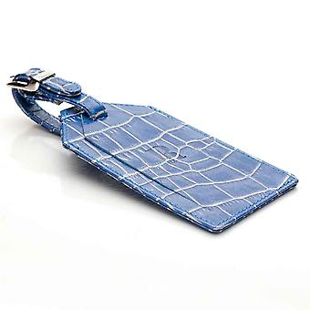 Blue Nile Croco Leather Luggage Tag