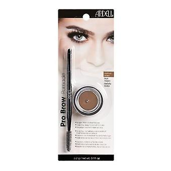 Ardell Pro Brow Pomade - Medium Brown - Professional Highly Pigmented Formula