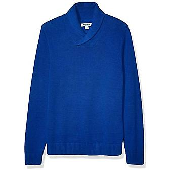 Marque - Goodthreads Men's Soft Cotton Shawl Sweater, Bright Blue XXX-L...