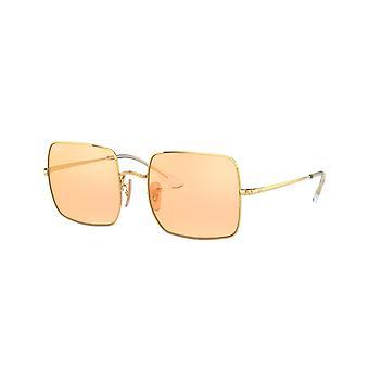راي بان سكوير RB1971 001/B4 لامعة الذهب / صور البرتقالي الذهب مرآة النظارات الشمسية