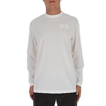 Y-3 Fn3362wht Männer's weiße Baumwolle T-shirt