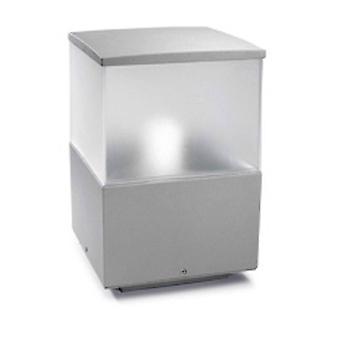 1 Lumière Petit Extérieur Bollard Gris Clair IP54, E27