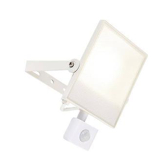 Integrerad LED PIR 1 Ljus utomhus vägg ljus texturerad Matt Vit, Frostat IP44