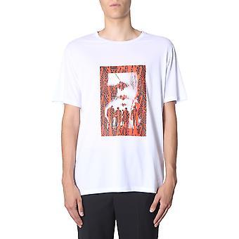 Neil Barrett Bjt623sm577s607 Men''s White Cotton T-shirt