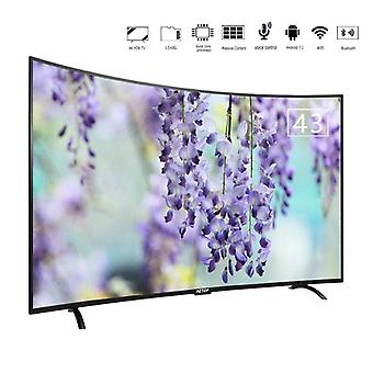 43 Inch Uhd 4k Tv Smart Television Led, Curved Screen With Dvb-s2/t2