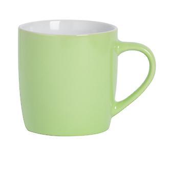 Argon Astiat Tee Kahvimuki - Nykyaikainen värillinen keraaminen kuppi - 350ml - Vihreä