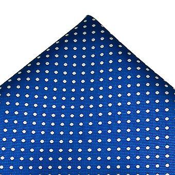 Solmiot Planet Royal Sininen & Valkoinen Polka Piste Pocket Square Nenäliina