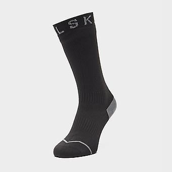 New Sealskinz Men's Waterproof All Weather Mid Length Socks Black