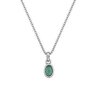 Hete diamanten sterling zilver groene Agaat hanger DP758