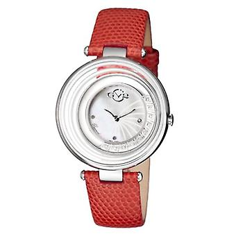 GV2-kehittäjä: Gevril Women's 1600L Vittoria Diamonds MOP Dial Red Leather Watch