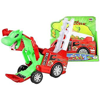 Toy car fire truck - transformer - dragon