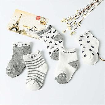 5 Pair/lot Cotton Baby Socks- Printing Mustache Girls / Boys, Spring Autumn