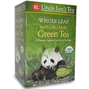 Uncle Lees Teas Organic Whole Leaf Green Tea, 18 Bags