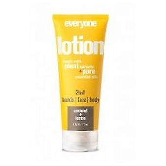 EO Products 3-in-1 Lotion, Coconut Lemon 6 Oz