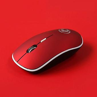 Stuff Certified® G-1600 Wireless Mouse Noiseless - Optical - Ambidextrous and Ergonomic - Red