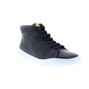 Camper Peu Touring Womens svart läder Euro Sneakers skor