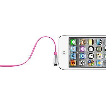 Belkin MixIt farveområde 0,9 m flad retvinkel AUX-kabel - Pink