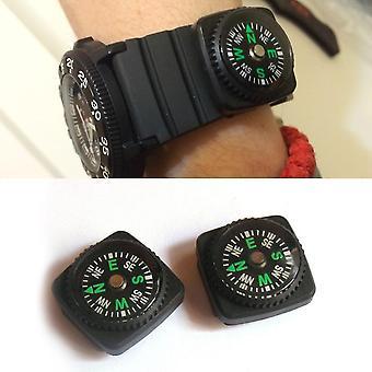 2pcs/lot 24mm Portable Belt Buckle Mini Compass Pour Randonnée en plein air Camping /