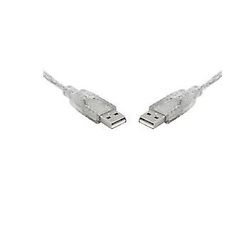 8Ware Usb Cable 2M A To A Male To Male Transparent