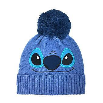 Disney Stitch kasvot sininen bobble hattu