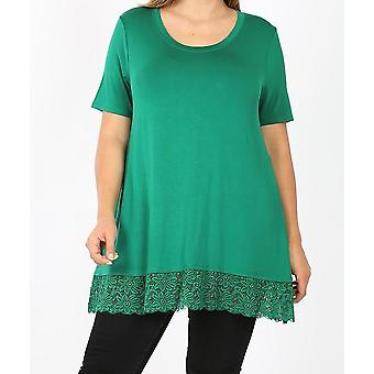 Short Sleeve Top With Lace Bottom