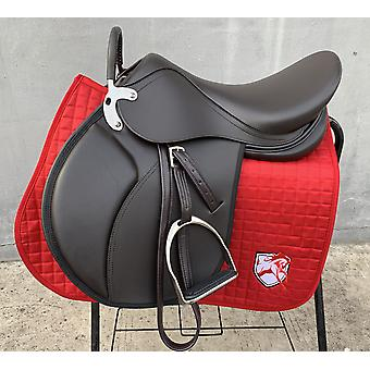 Horse Riding Saddle Pad, Horseback Equipments, Genuine Leather, Integrated,