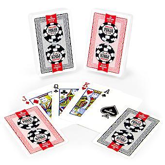 Copag Lace 2016 WSOP muovi kortit-punainen/musta-silta