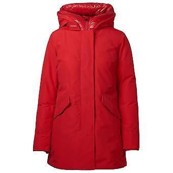 Woolrich Wwou0300frut0001msc Women's Red Cotton Outerwear Jacket