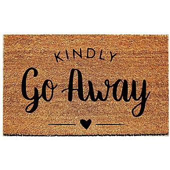 Kindly Go Away-welcome Mat