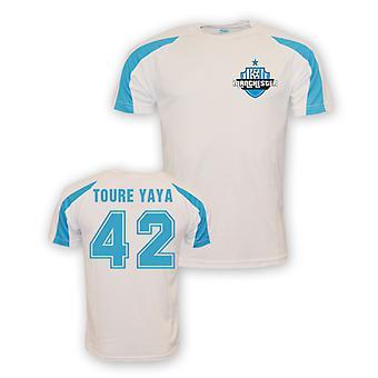 Yaya Toure Man City Sports Training Jersey (vit)