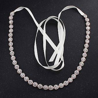 Fashion Thin Rhinestone Alloy Wedding Belts Sashes Bridal Dress Accessories