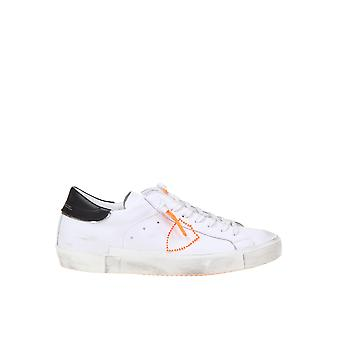 Philippe Model Prhuvbf2 Men's White Leather Sneakers