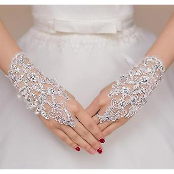 Elegantné korálkové svadobné rukavice