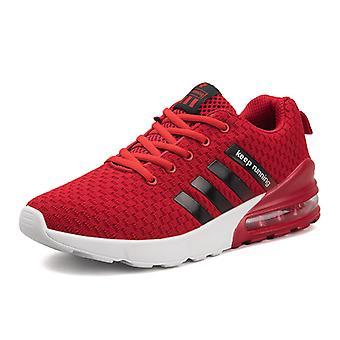 Cojín de aire para hombre Zapatillas transpirables 051 Rojo