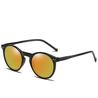 Polarized Retro Round, Sun-glasses Vintage Goggles, Women