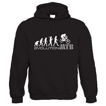 Evolution of A Mountain Biker Hoodie - Vtt VTT cadeau pour papa lui